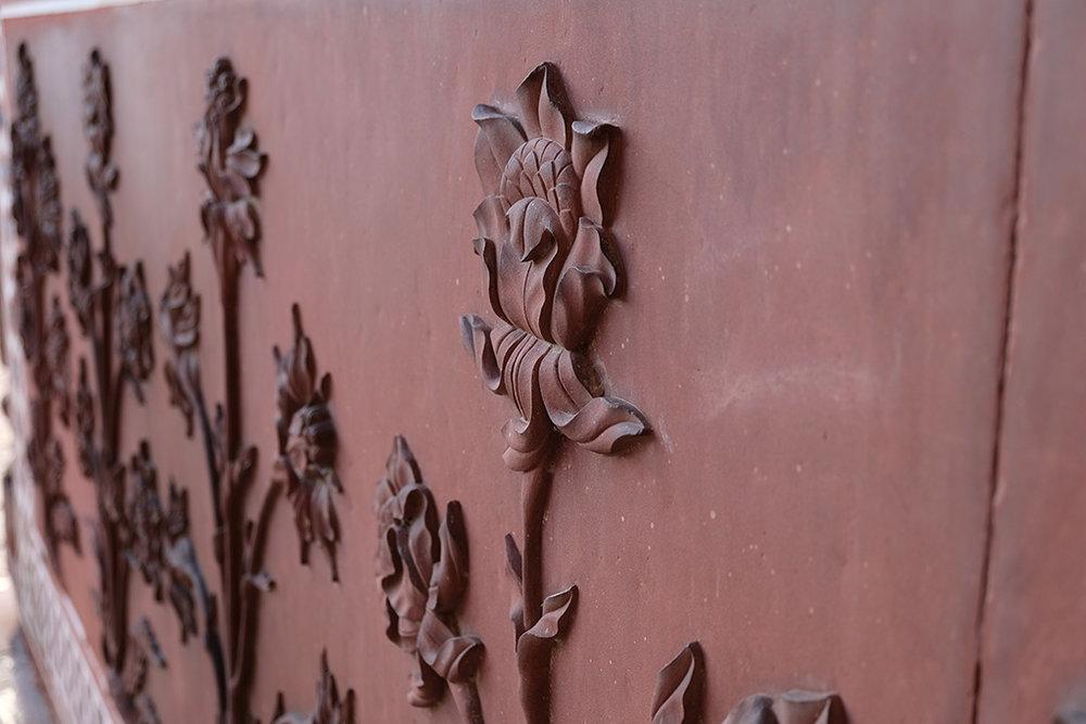 Red sandstone carvings