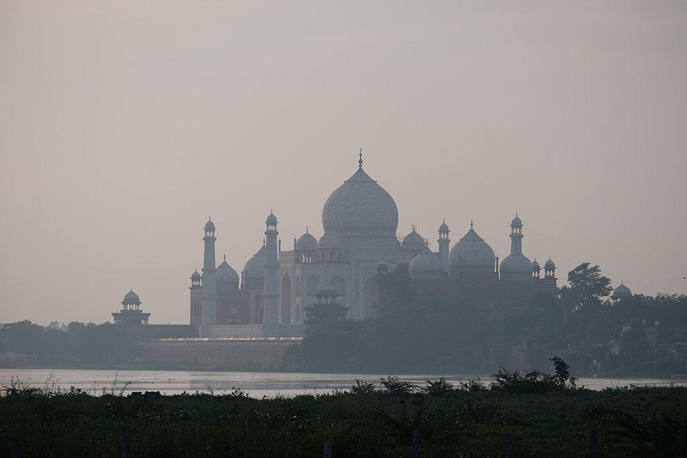 Taj Mahal and Yamuna River