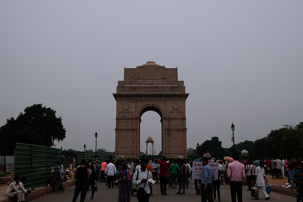 India Gate, and the hordes