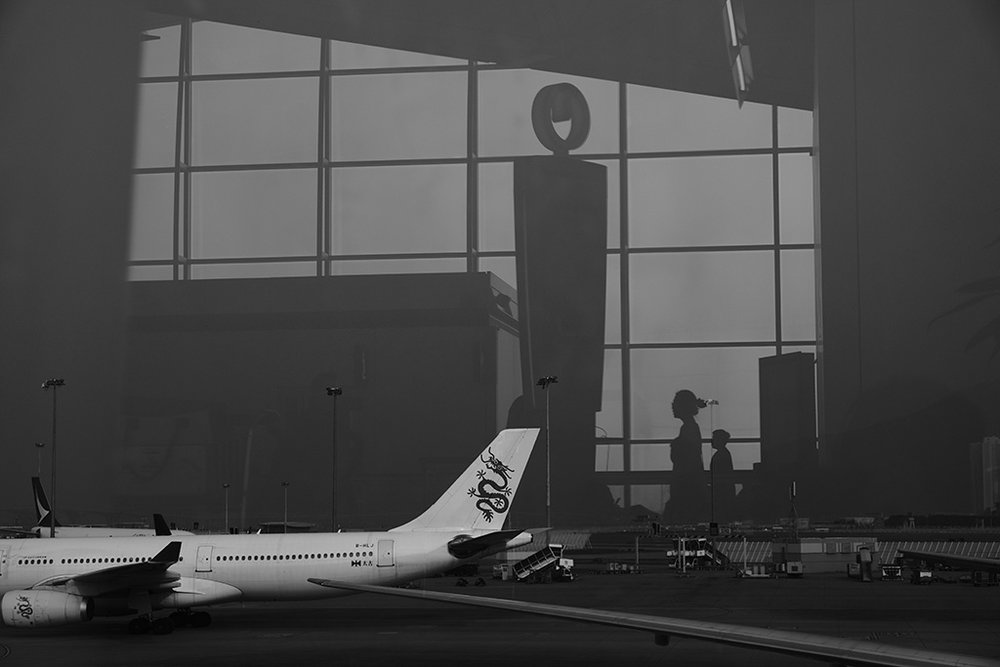 Airport reflection
