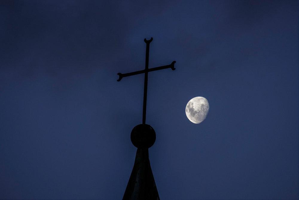 Moon and Cross
