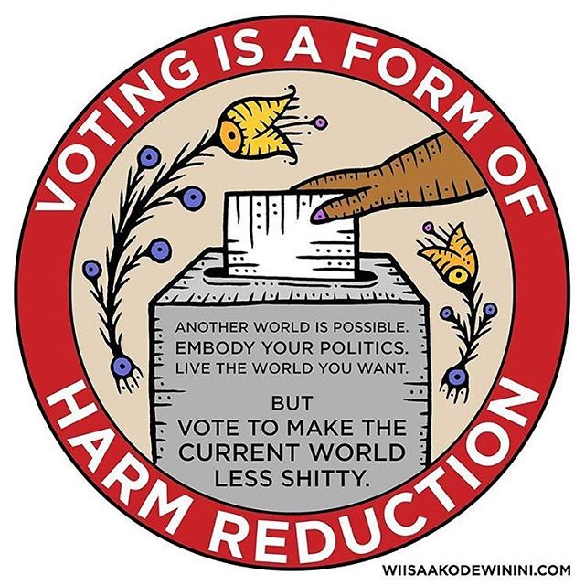 We love this @wiisaakodewinini and this is so true. Please vote tomorrow if you have not voted tomorrow in the USA.