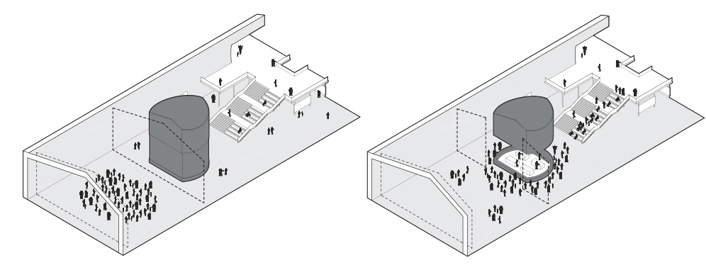 The public test kitchen, in Closed and Open configurations
