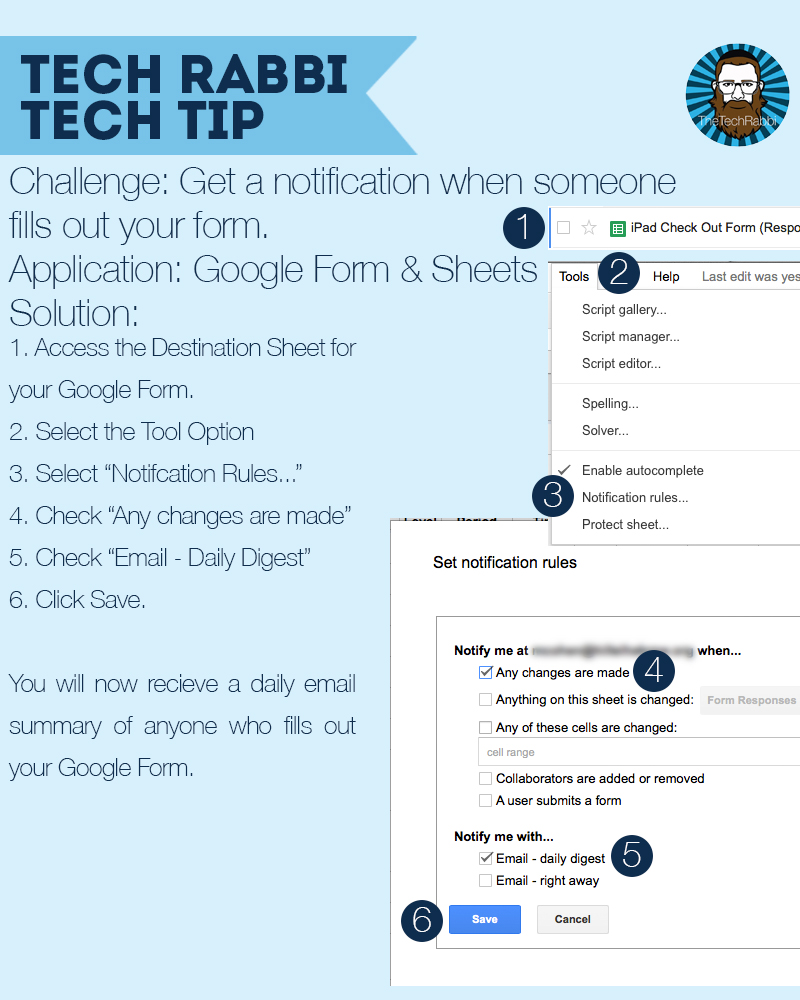 Tech Tip - Google Form Response Notification