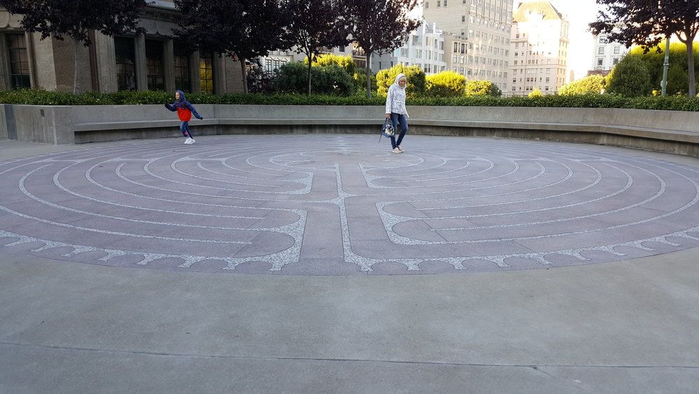 Grace Cathedral's labyrinths, are a truly fascinating, relaxing journey to behold.