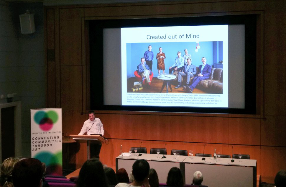 Our Director, Seb Crutch presents Created Out of Mind at the Sharing Dementia and Imagination Conference.