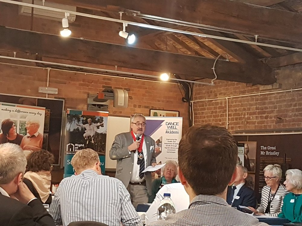 """We're all in this together""; hearing from the Mayor of Camden at the Camden Dementia Action Alliance Conference on Mon 15th May."