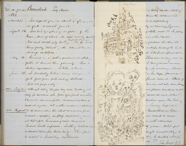 Lady Maria Beauclerk's case notes, Ticehurst Asylum archives. Source: Wellcome Collection.