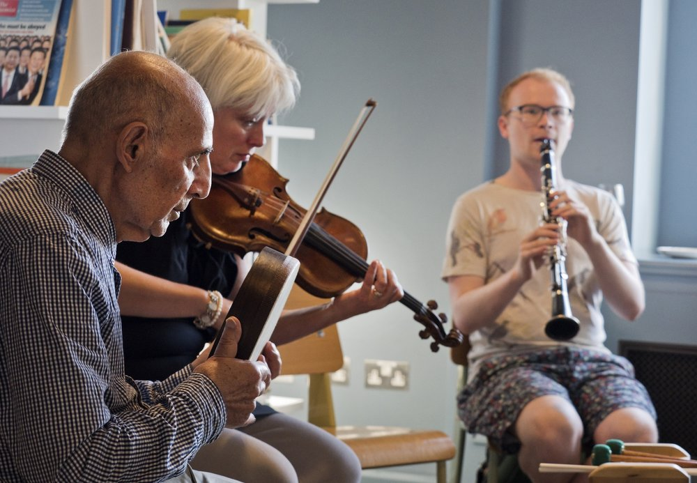 Music for Life session at Created Out of Mind Hub Residency Showcase, led by Wigmore Hall. Photo: David Sandison/Wellcome.