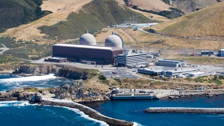 This aerial file photo taken, June 20, 2010, shows the Diablo Canyon Nuclear Power Plant, in Avila Beach, Calif. (Joe Johnston/The Tribune (of San Luis Obispo) via AP, File)