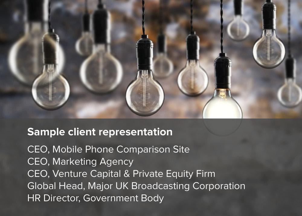 Sample client representation - Steve Chamberlain, executive coach