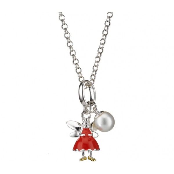 Red Aurora Angel Necklace