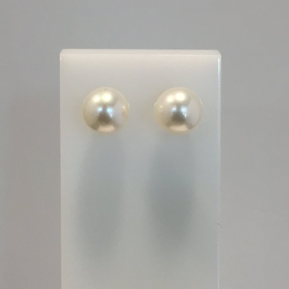 9ct Yellow Gold 8.5mm Akoya Pearl Studs