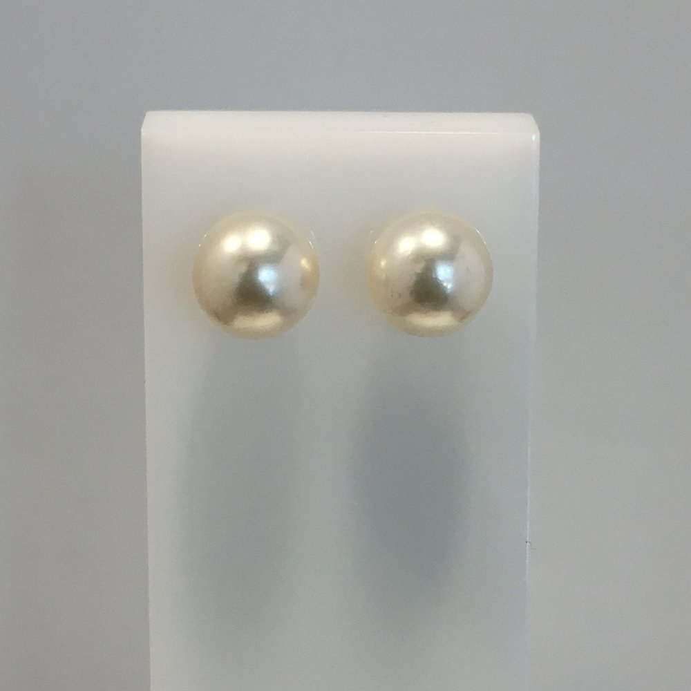 9ct Yellow Gold Akoya Pearl Studs
