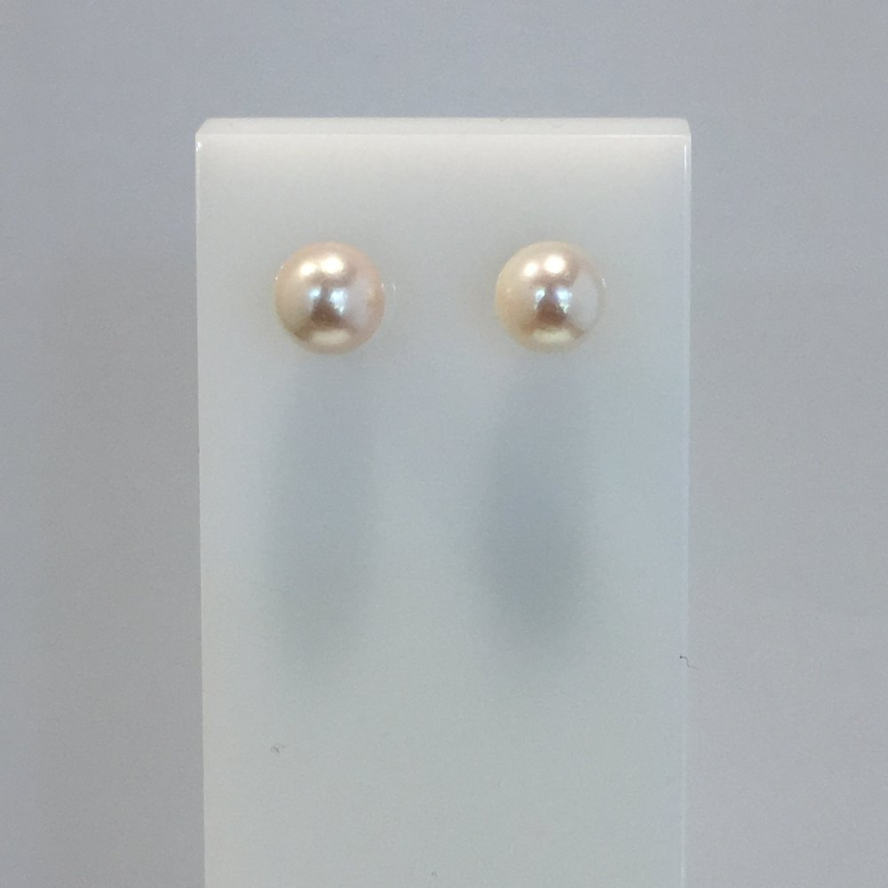 9ct Yellow Gold 6mm Akoya Pearl Studs