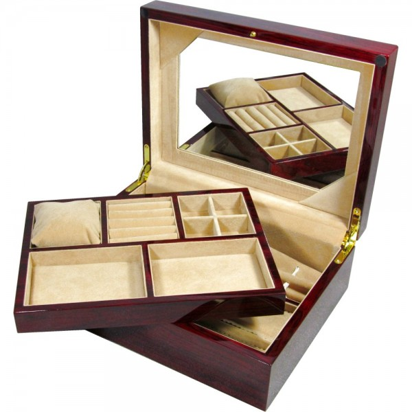 Laminated Rosewood Jewellery Box