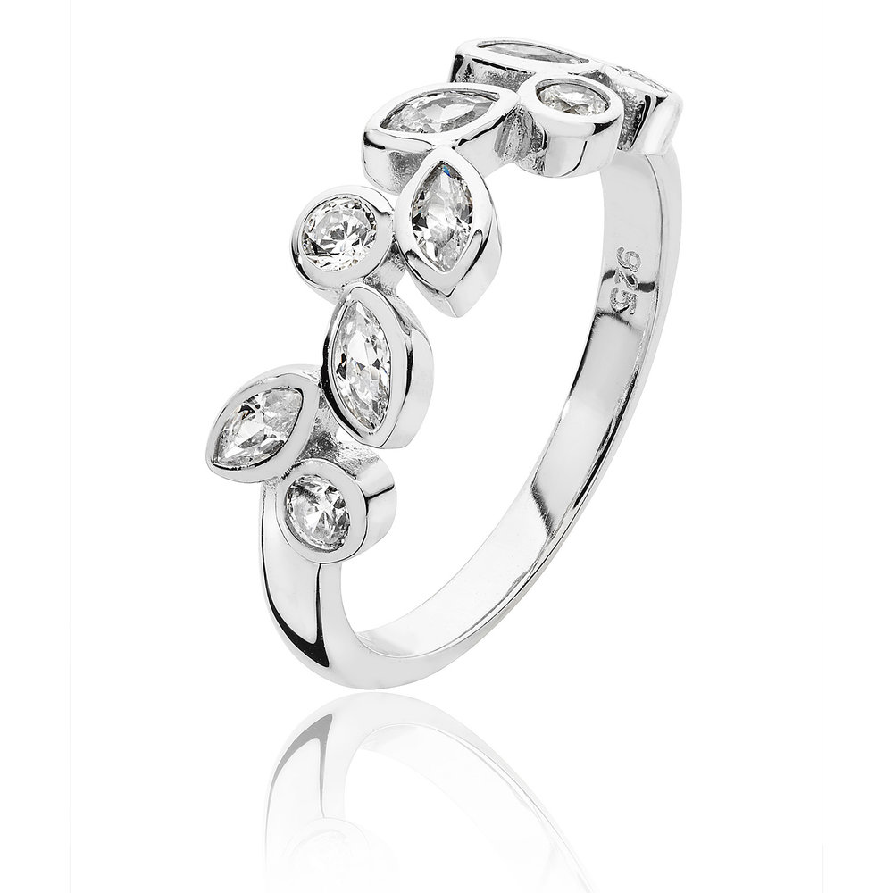 Silver & CZ Marquise Set Ring  £50