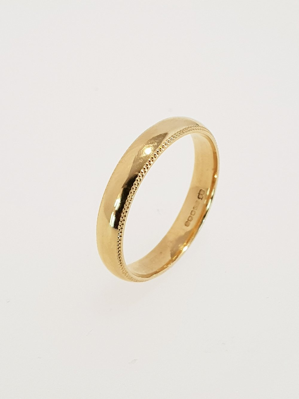 18ct Yellow Gold 3.5mm Band