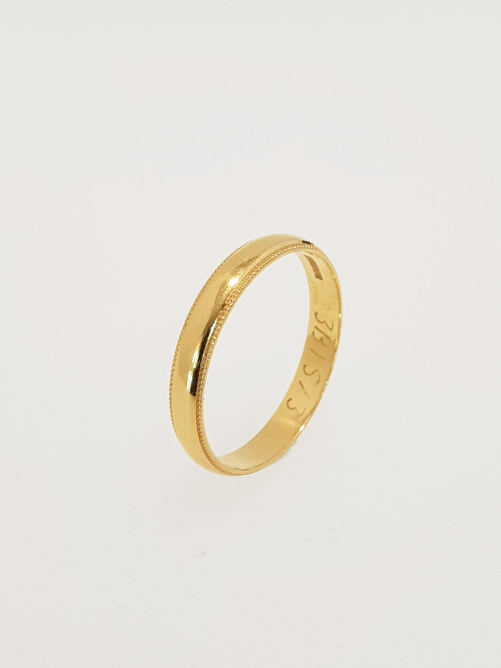 22ct Yellow Gold Band