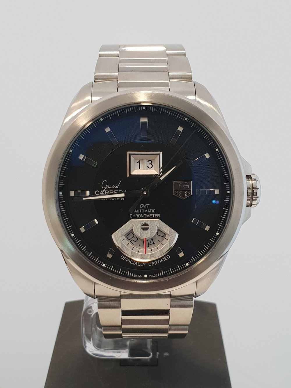 Tag Carrerra GMT   Model Number: WAV5111  Box & Papers, December 2007  Stock Code: Y220  New Price: £3600 Our Price: £1800