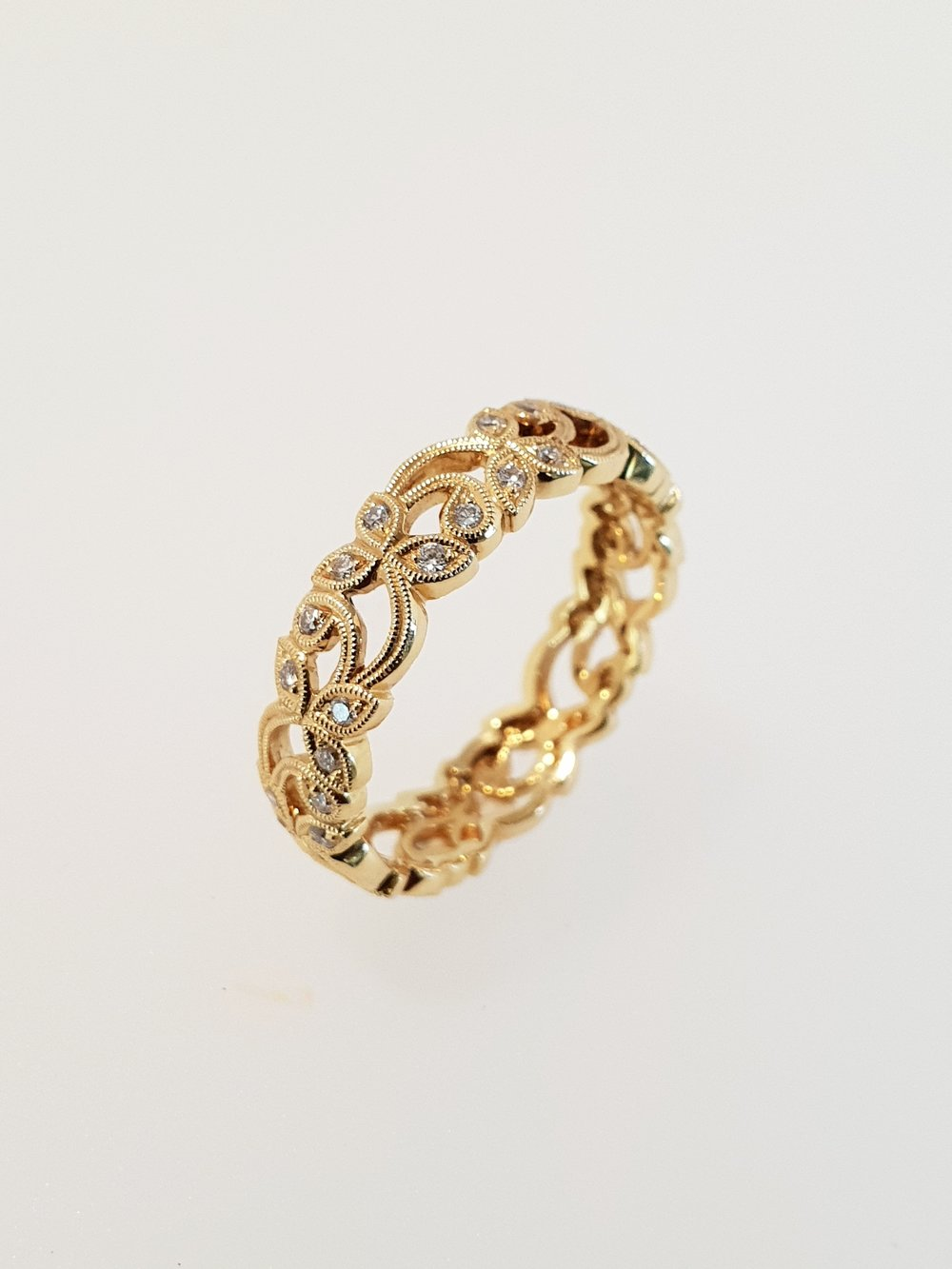 18ct Yellow Gold & Diamond Ring, .28ct