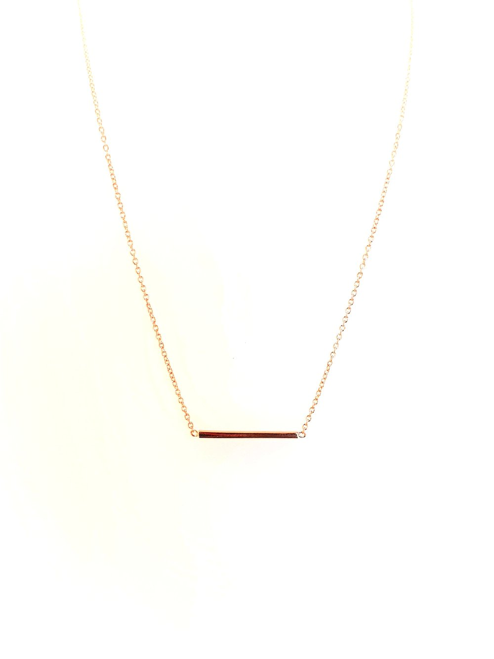 516be0a07a4 Rose Gold Bar Necklace