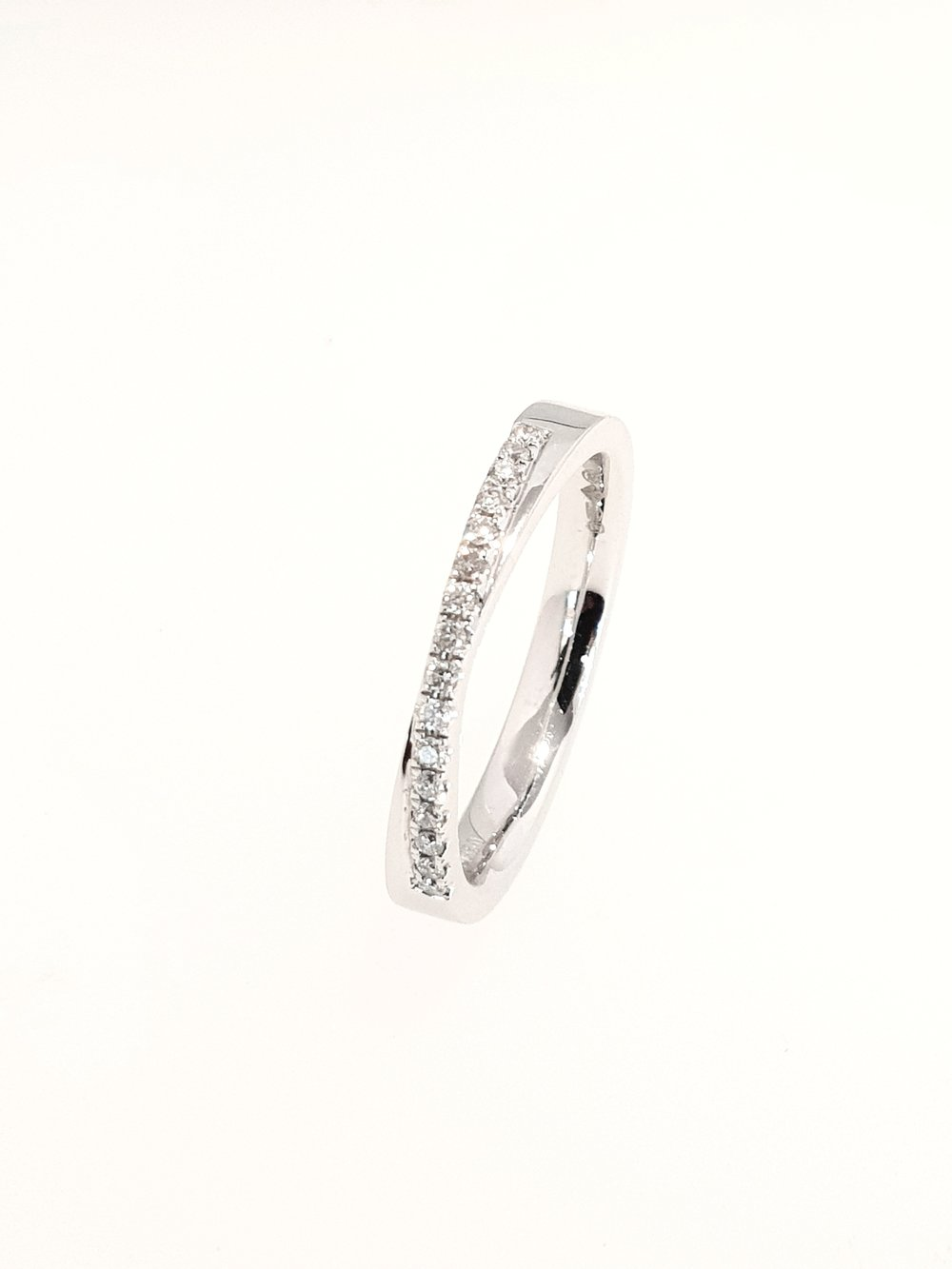 Platinum Eternity Ring  .16ct x 16  Stock Code: N8700  £1550