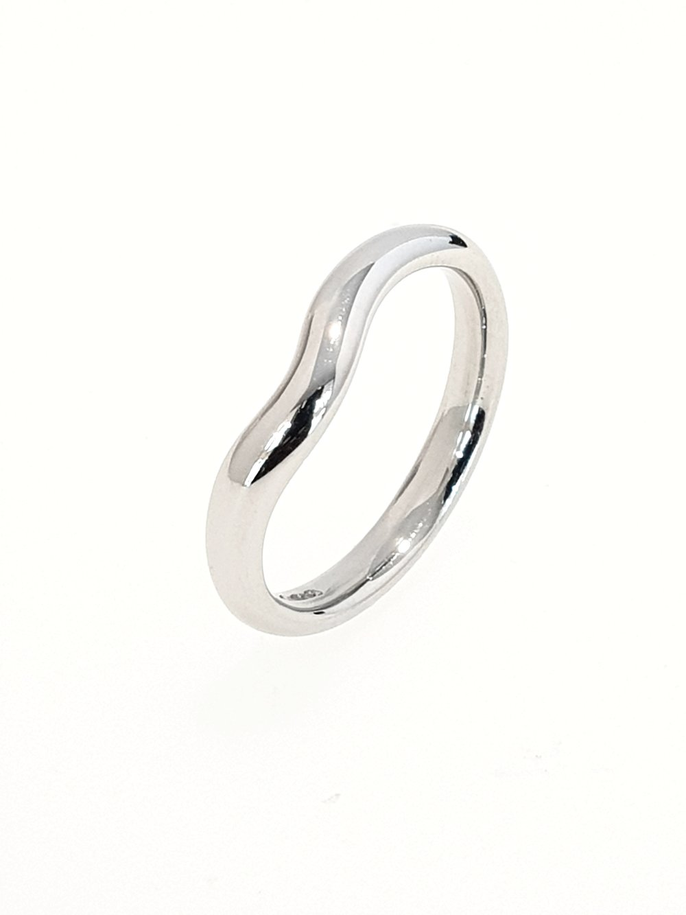 3mm Platinum Shaped Band