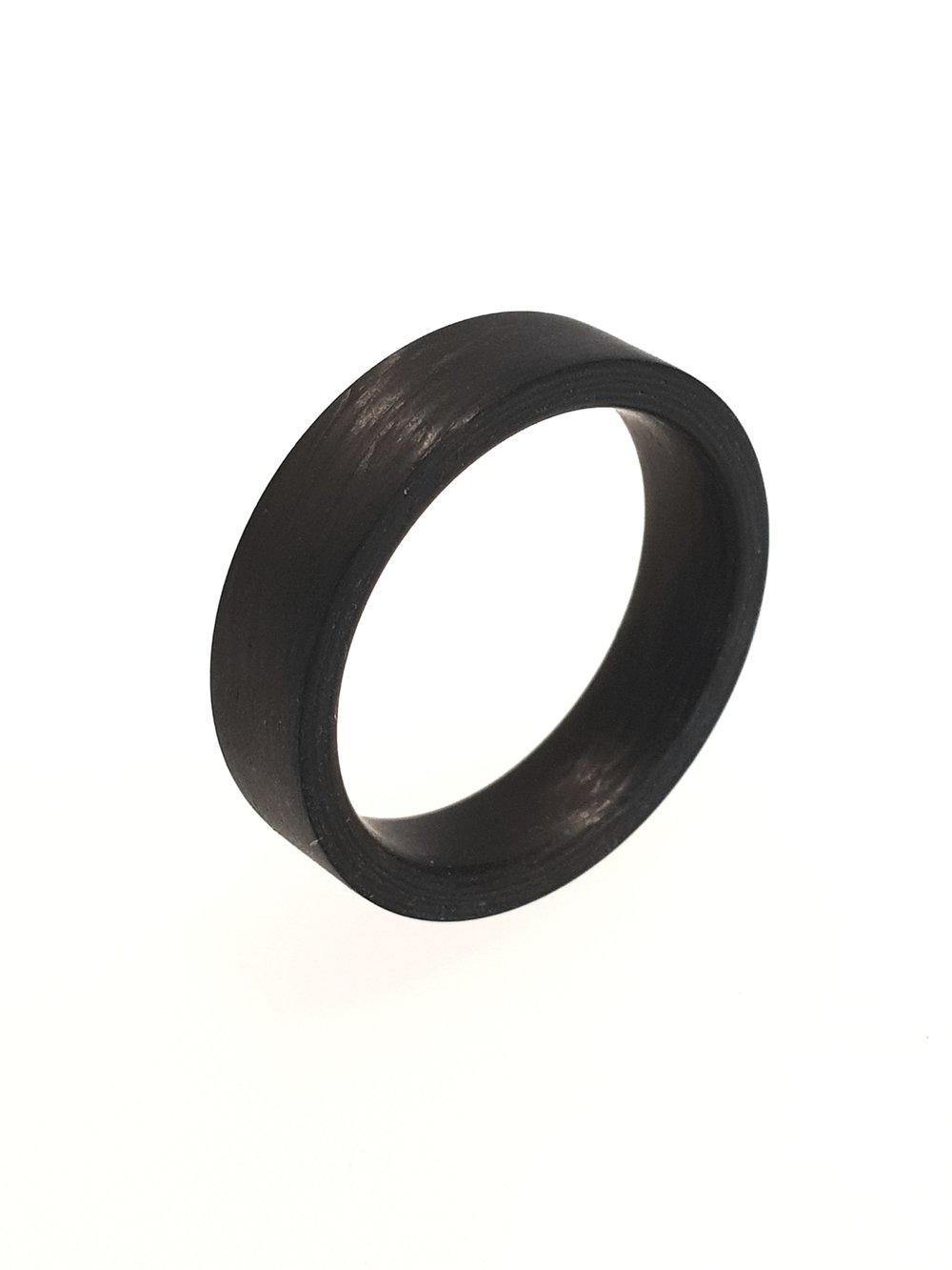 Carbon Fibre Ring, 6mm Plain Band    Titan Factory (Model: 59304/002/000/N000)   Current Stock Size: T  Stock Code: E9805  £75
