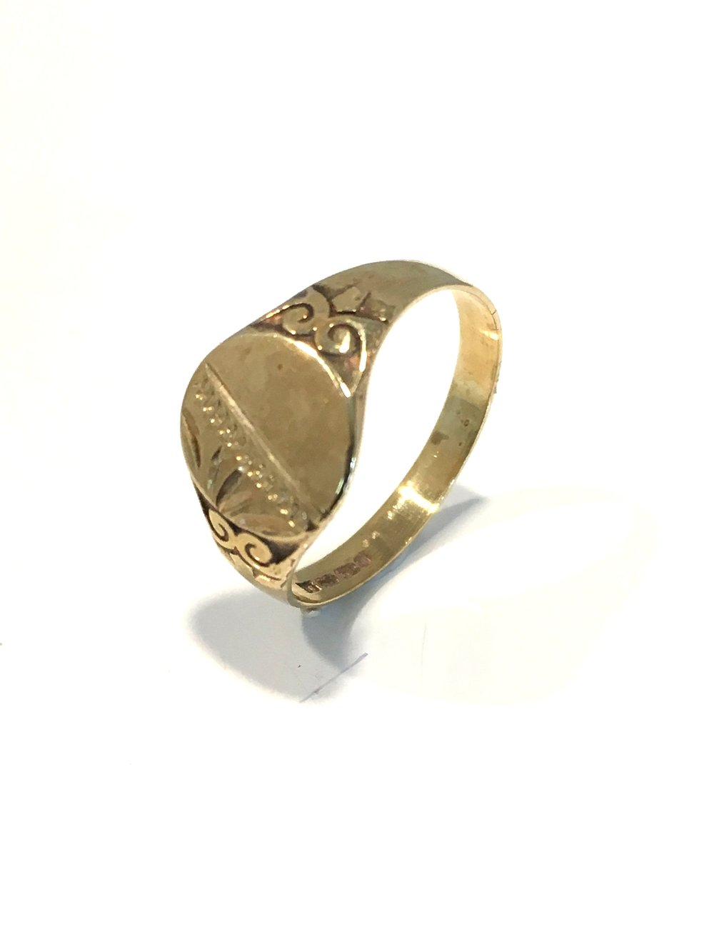 9ct Yellow Gold Child's Signet Ring