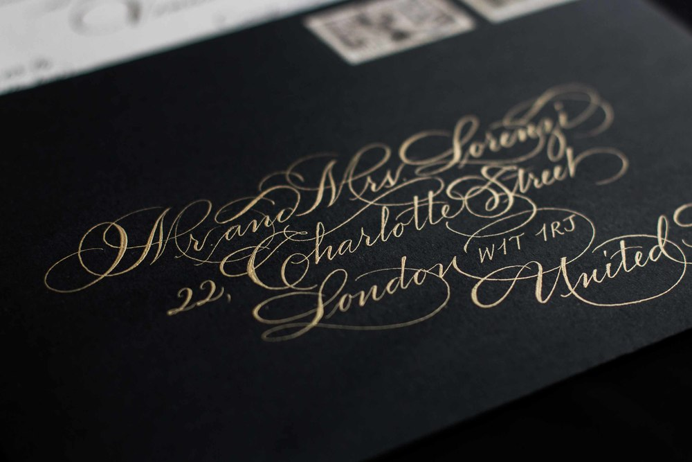 wedding calligraphy venice