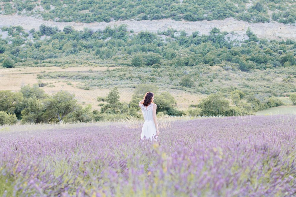 elopement in lavender fields