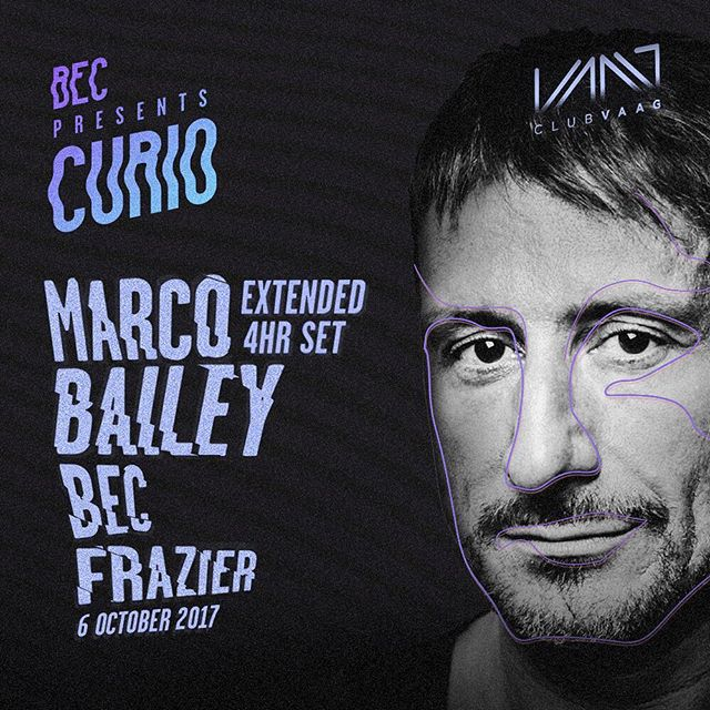 The full lineup is out! And I couldn't be more proud to host @marcobaileyofficial who will play an extended 4 hour set for the first @curiomusic . He will be joined by rising talent @frazier.uk, from Glasgow. 3 weeks to go, this will be one for the books! 😁😁😁🙃🙃🙃#clubvaag #antwerp 😆#belgium #techno #marcobailey #frazier #berlin #club #clubnight