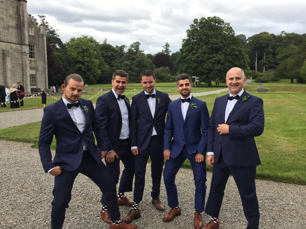 Bespoke Groom & Groomsmen Wedding Suits Paul Henry Tailoring Dublin