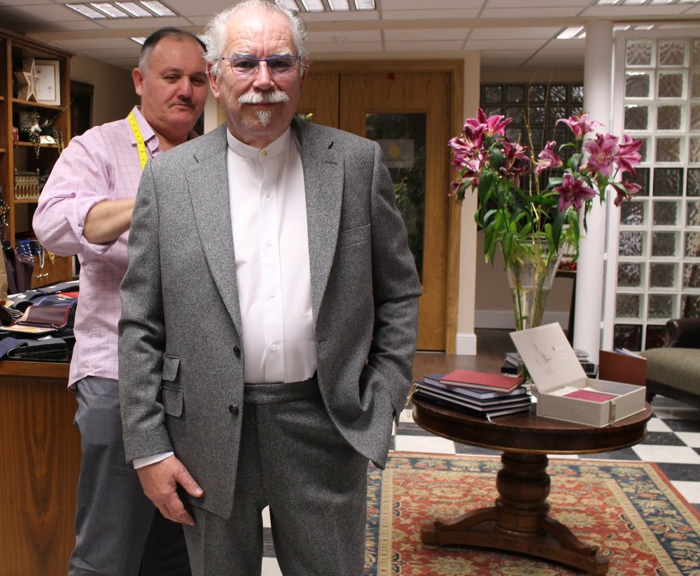 Robert Ballagh at Paul Henry Tailoring