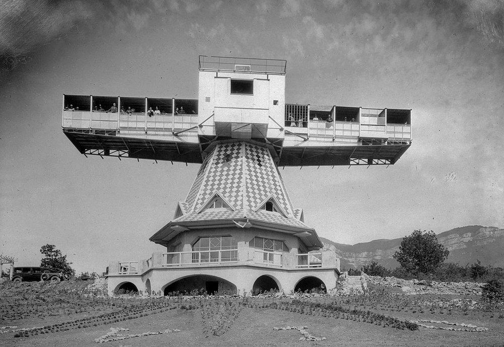 Solarium tournant du Docteur Saidman, Aix-Les-Bains, 1930
