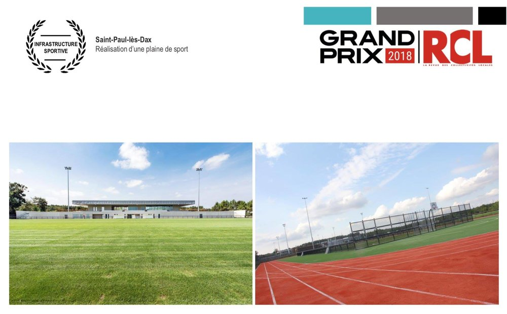 Lauréat Infrastructure sportive,  Grand Prix 2018 RCL