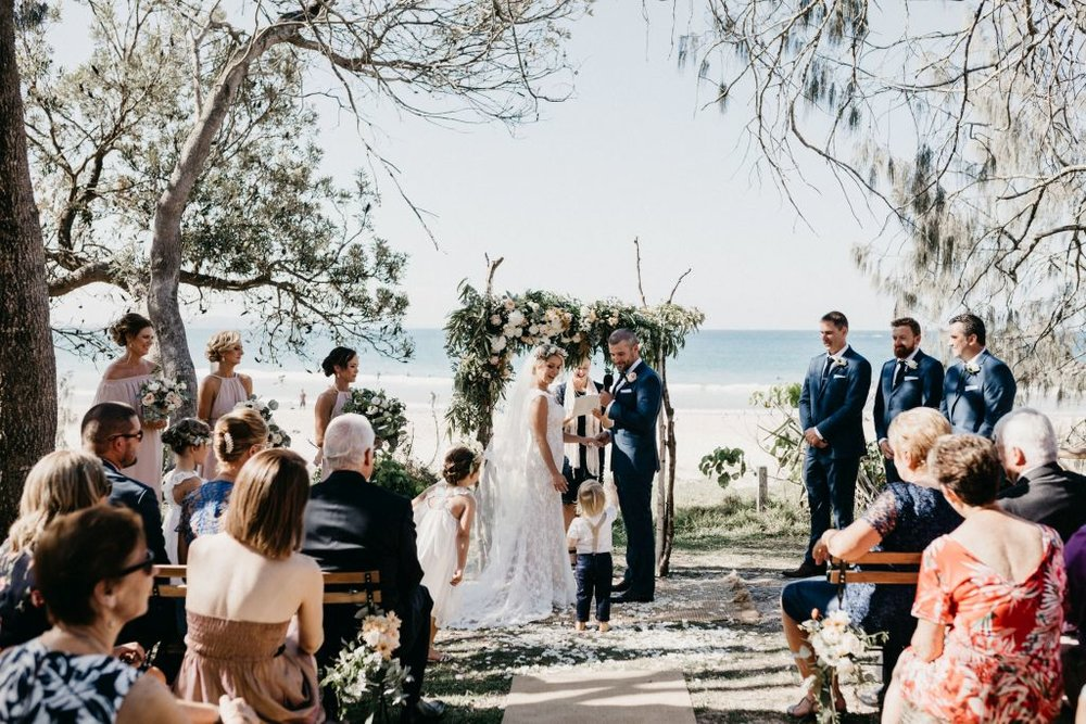 Noosa Main Beach West, beach #14/15. Photo by Luke Middlemiss Photography, decor by Twig and Grace