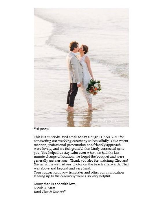 Noosa Main Beach Wedding