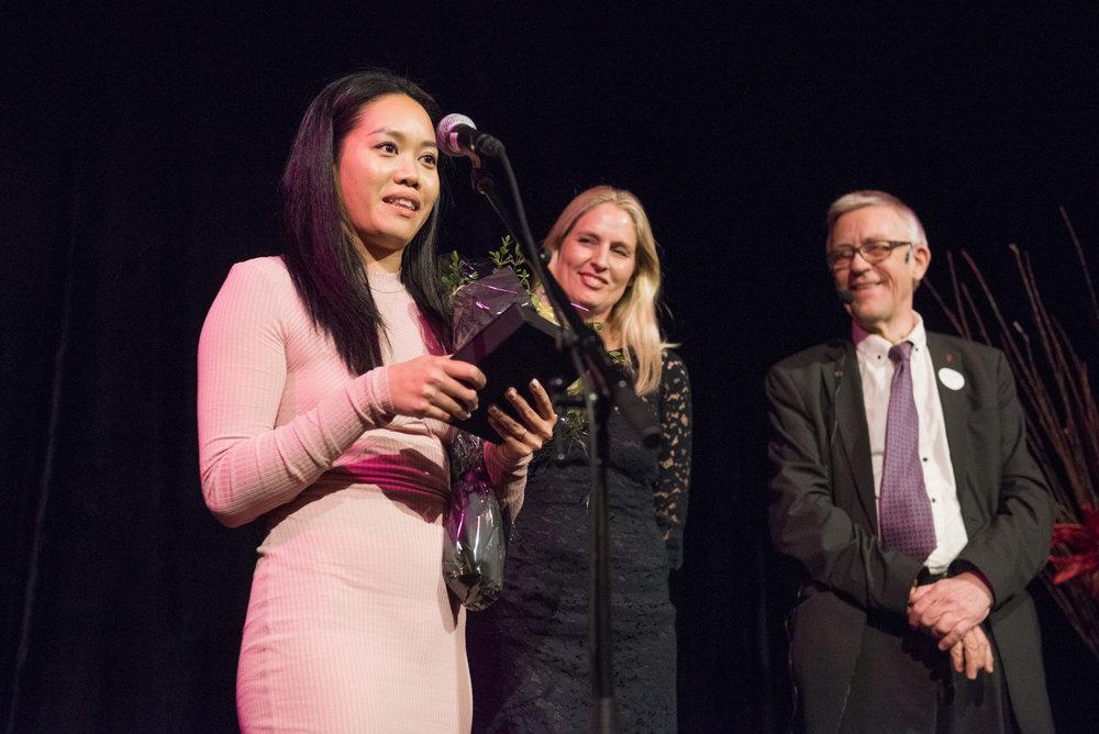 Årets Nykommer i frivilligheten 2016 var Sang Bui, aktivitetsvenn i Nasjonalforeningen for folkehelsen.(Foto: Birgitte Heneide/Frivillighet Norge)