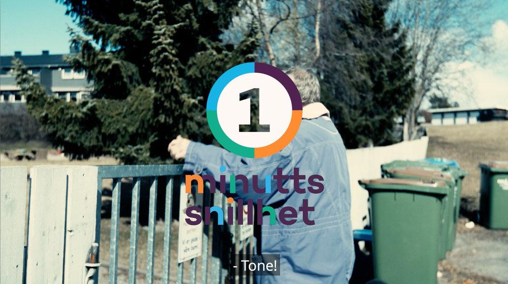 Ett minutt snillhet - En serie filmer om følelsen av frivillig innsats. Vår/ sommer/ høst 2017.