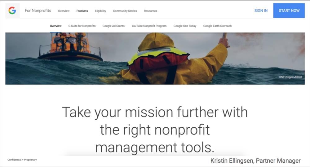 Google presentasjon om AdWords med AdGrants -