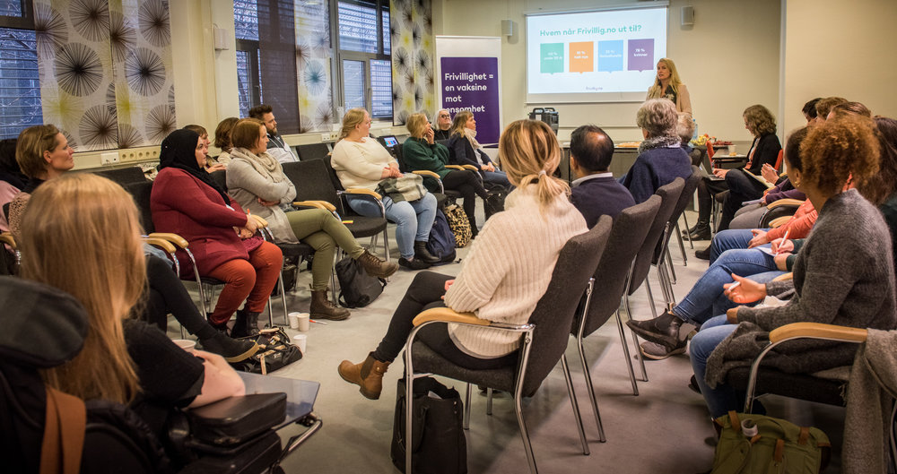 Forum for ledelse av frivillige arrangert av Frivillighet Norge og Frivillig.no 5.april 2018. Foto Birgitte Heneide/FrivillighetNorge