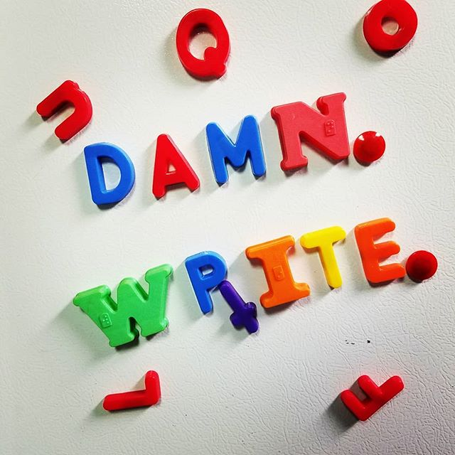 Damn. Write.  #contentmarketing #digitalmarketing #refridgeratormagnets #blogging #business #playonwords #breaktime #didnthaveanR #advertising #workinglate #red #wordsmith