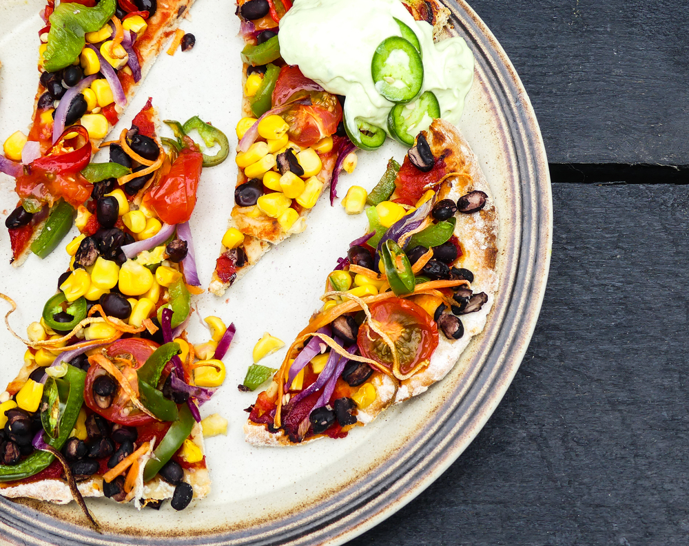 No Beef Mexican Bean Pizza