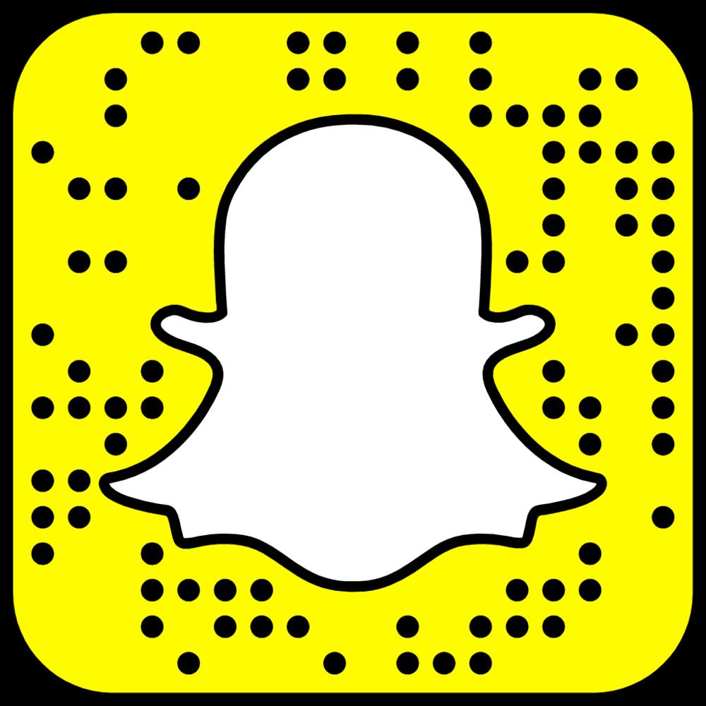 Scan de code in Snapchat om mij te volgen!