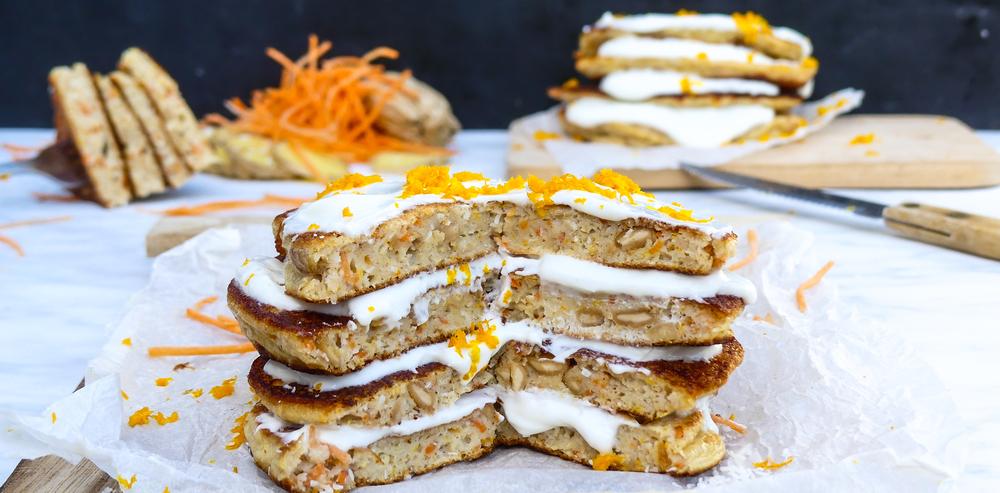 Wortel pannenkoen Carrot (pan)cakes
