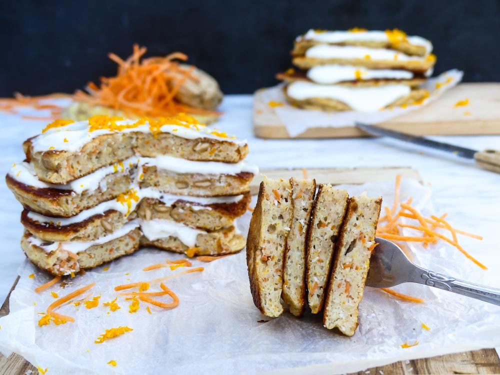 Wortelcake pannenkoeken  - Carrot (pan)cakes