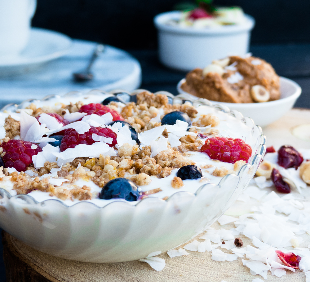 Kwark met yoghurt & creusli