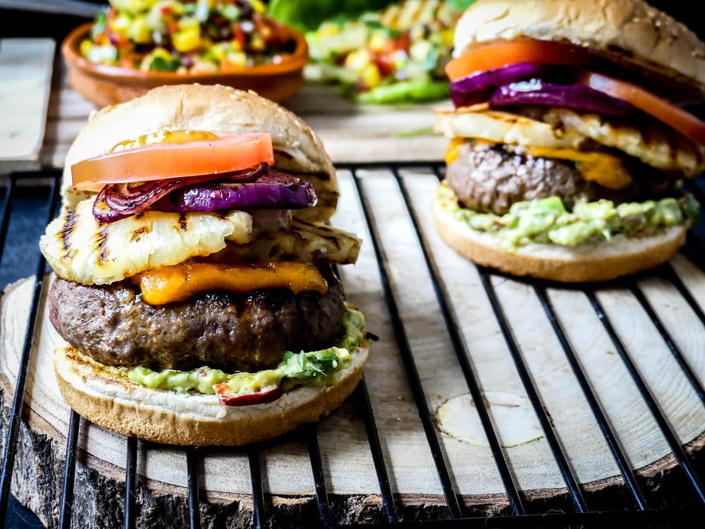 Burger, Hawaiian style..